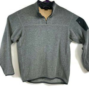 Arcteryx Mens Large Gray 1/4 Zip Pullover Sweater